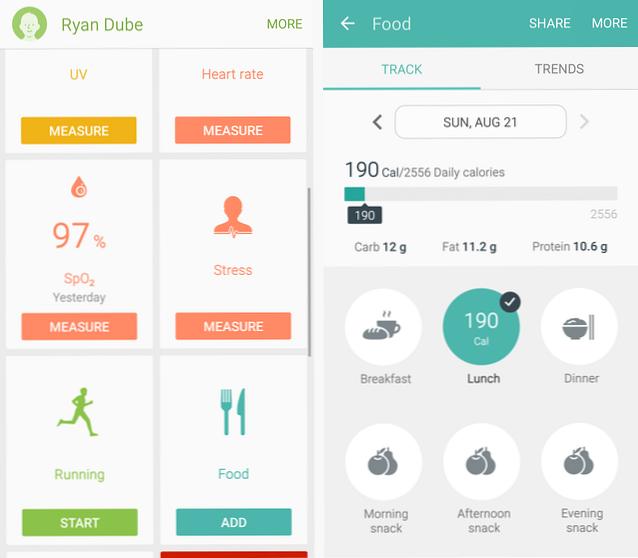 räkna kalorier app android