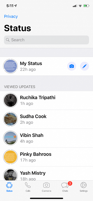 Sichtbar nicht whatsapp statusmeldung WhatsApp zeigt