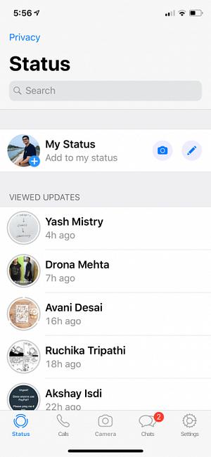 Sichtbar nicht whatsapp statusmeldung WhatsApp Status