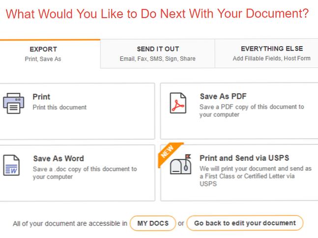 Pdf filler: Sending your document